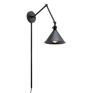 Ellerbeck Black One-Light Wall Sconce