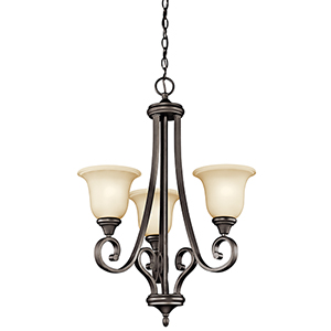 Monroe Olde Bronze Three-Light Energy Star LED Chandelier
