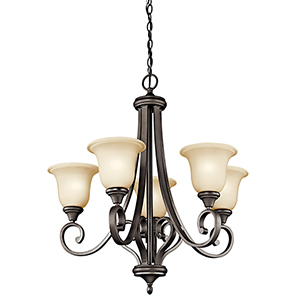 Monroe Olde Bronze 29-Inch Five-Light Energy Star LED Chandelier