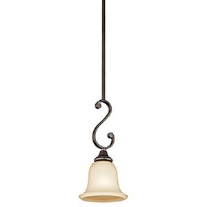 Monroe Olde Bronze One-Light Energy Star LED Mini Pendant