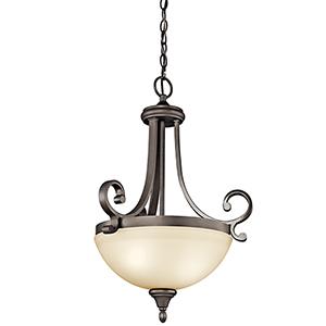 Monroe Olde Bronze Two-Light Energy Star LED Pendant