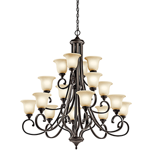 Monroe Olde Bronze 16-Light Energy Star LED Chandelier