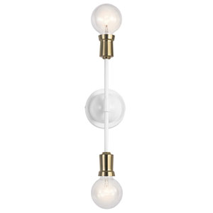 Armstrong White Two-Light Wall Sconce