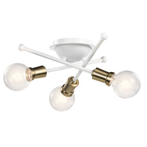 Armstrong White Three-Light Flush Mount