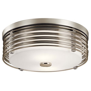 Bensimone Satin Nickel Two-Light Flush Mount