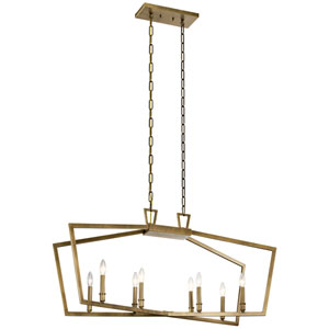 Abbotswell Natural Brass Eight-Light Chandelier