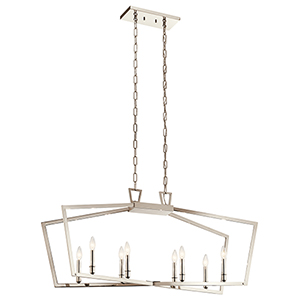 Abbotswell Polished Nickel Eight-Light Chandelier