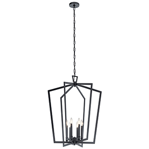 Abbotswell Black Six-Light Chandelier