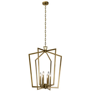 Abbotswell Natural Brass Six-Light Pendant