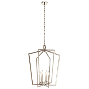 Abbotswell Polished Nickel Six-Light Chandelier