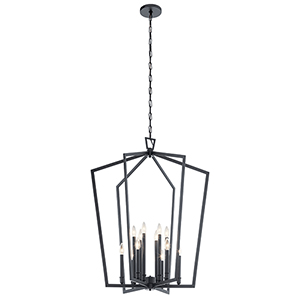 Abbotswell Black 12-Light Chandelier