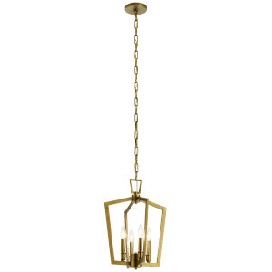 Abbotswell Natural Brass Four-Light Pendant