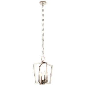 Abbotswell Polished Nickel Four-Light Pendant