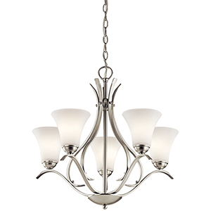 Keiran Brushed Nickel Five-Light Energy Star LED Chandelier