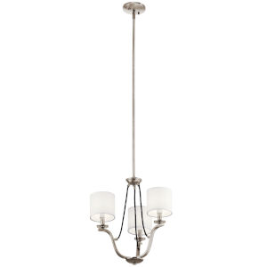 Thisbe Classic Pewter 18-Inch Three-Light Chandelier