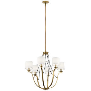 Thisbe Natural Brass 28-Inch Six-Light Chandelier