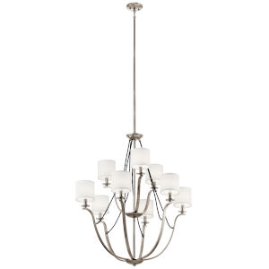 Thisbe Classic Pewter 33-Inch Nine-Light Chandelier