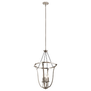 Thisbe Classic Pewter 18-Inch Four-Light Chandelier