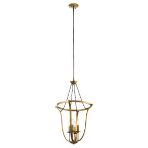 Thisbe Natural Brass 18-Inch Four-Light Chandelier
