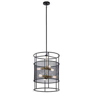 Piston Black Six-Light Pendant