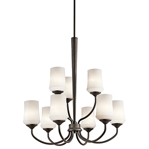 Aubrey Olde Bronze Nine-Light Energy Star LED Chandelier