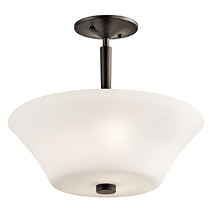 Aubrey Olde Bronze Three-Light Energy Star LED Semi-Flush Mount