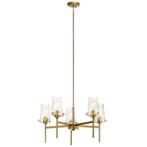Alton Natural Brass 27-Inch Five-Light Chandelier