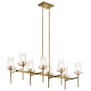 Alton Natural Brass 17-Inch Eight-Light Chandelier