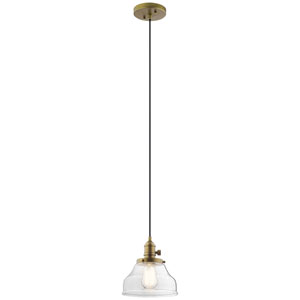 Avery Natural Brass Nine-Inch One-Light Mini Pendant