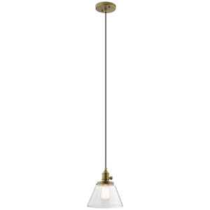 Avery Natural Brass One-Light Mini Pendant
