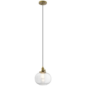 Avery Natural Brass 11-Inch One-Light Mini Pendant