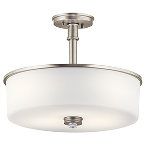 Joelson Brushed Nickel Three-Light Energy Star LED Semi-Flush Mount
