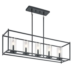 Crosby Black 26-Inch Five-Light Chandelier