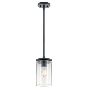 Crosby Black One-Light Mini Pendant
