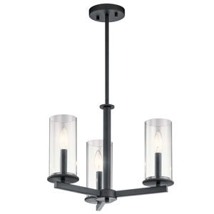 Crosby Black Three-Light Chandelier