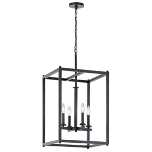 Crosby Black Four-Light Pendant
