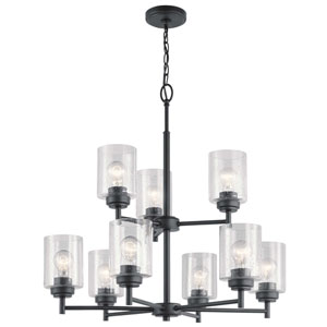 Winslow Black Nine-Light Chandelier