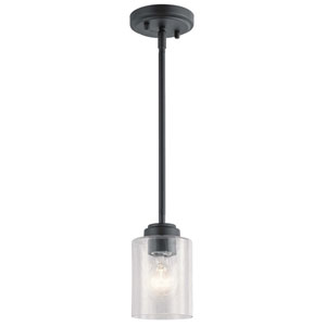 Winslow Black One-Light Mini Pendant