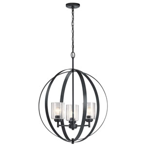 Winslow Black 31-Inch Three-Light Chandelier