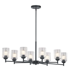 Winslow Black Eight-Light Chandelier