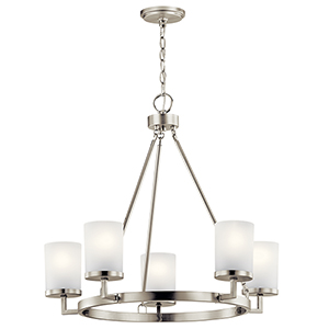 Daimlen Brushed Nickel Five-Light Chandelier