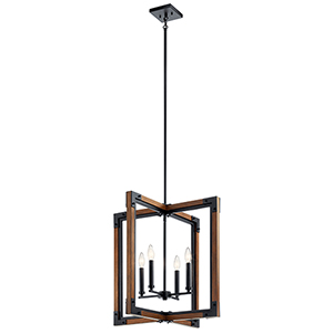 Marimount Auburn Stained Finish Four-Light Pendants