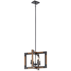 Marimount Auburn Stained Finish Four-Light Chandelier