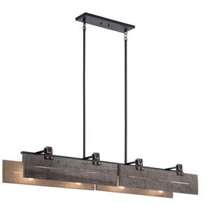 Ridgewood Textured Black Eight-Light Chandelier