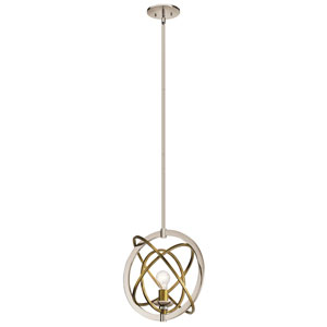 Ibis 1-Light Pendant in Polished Nickel