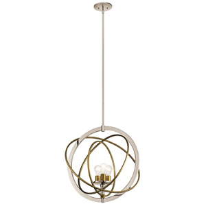 Ibis 3-Light Pendant in Polished Nickel
