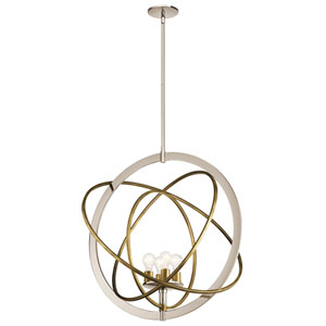 Ibis 4-Light Pendant in Polished Nickel