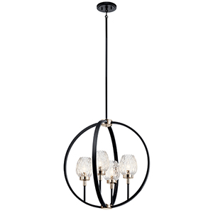 Moyra Black Four-Light Chandelier