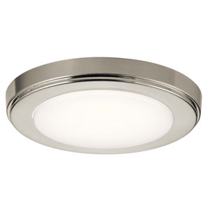 Zeo 7-Inch Round Flushmount Light in Brushed Nickel