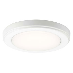 Zeo 7-Inch Round Flushmount Light in White